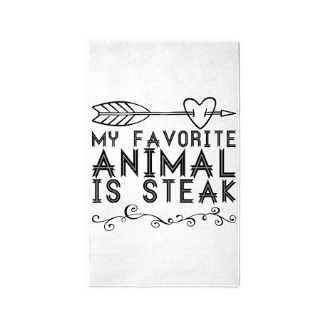My favorite animal is steak. Area Rug by ADMIN_CP13764613