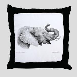 Lucky Elephant ~ Throw Pillow
