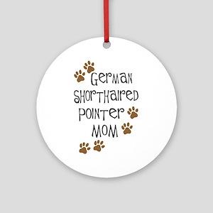 G. Shorthaired Pointer Mom Ornament (Round)
