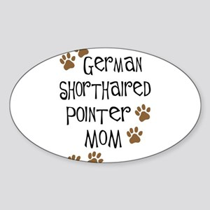 G. Shorthaired Pointer Mom Oval Sticker