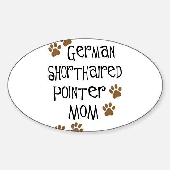 G. Shorthaired Pointer Mom Oval Decal