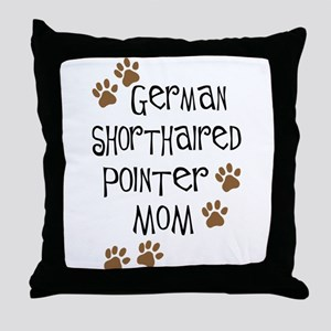 G. Shorthaired Pointer Mom Throw Pillow