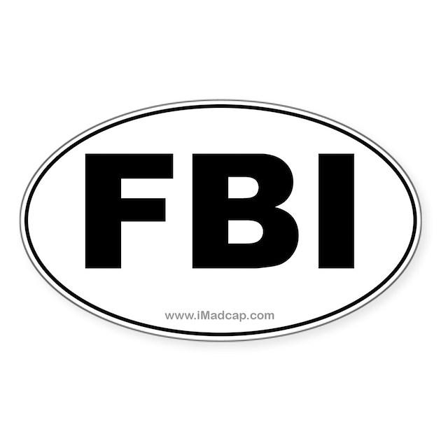 FBI Car Oval Decal By Madcapstudios