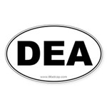 DEA Car Oval Sticker