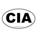 CIA Car Oval Sticker