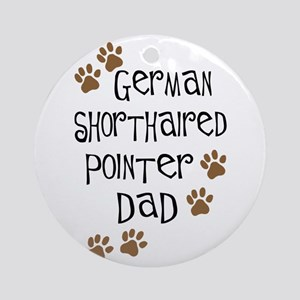 G. Shorthaired Pointer Dad Ornament (Round)