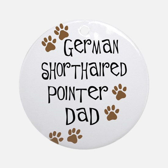G. Shorthaired Pointer Dad Ornament (Round)