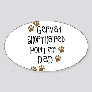 G. Shorthaired Pointer Dad Oval Sticker