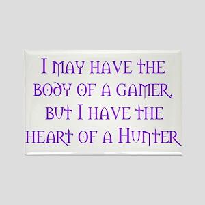Heart of a Hunter Rectangle Magnet