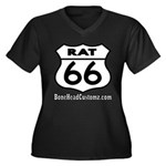 RAT 66 Women's Plus Size V-Neck Dark T-Shirt
