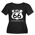 RAT 66 Women's Plus Size Scoop Neck Dark T-Shirt