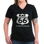 RAT 66 Women's V-Neck Dark T-Shirt