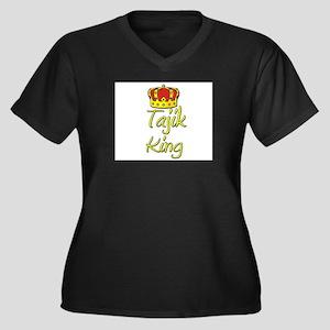 Tajik King Women's Plus Size V-Neck Dark T-Shirt
