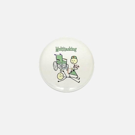 Nurse Multitasking Mini Button
