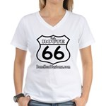 US ROUTE 66 Women's V-Neck T-Shirt