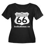 US ROUTE 66 Women's Plus Size Scoop Neck Dark T-Sh