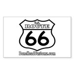 US ROUTE 66 Rectangle Sticker
