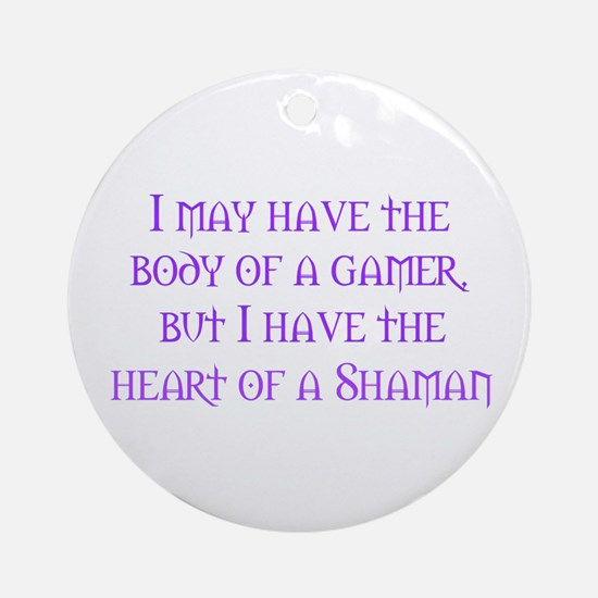 Heart of a Shaman Ornament (Round)