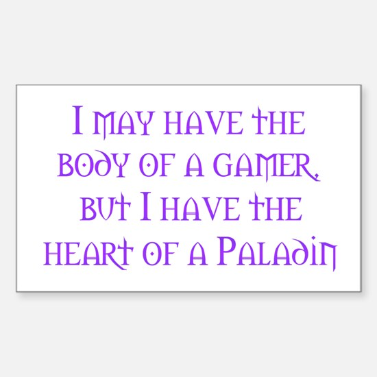 Heart of a Paladin Rectangle Decal