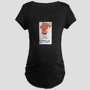 India Fun Country Maternity Dark T-Shirt