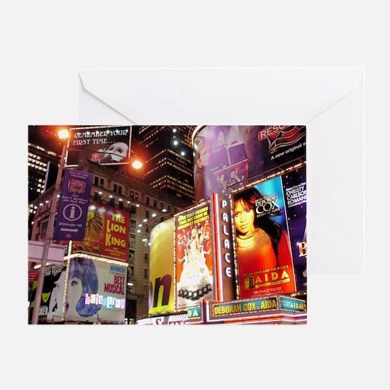 Broadway at Night Greeting Card
