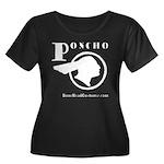 Poncho Women's Plus Size Scoop Neck Dark T-Shirt