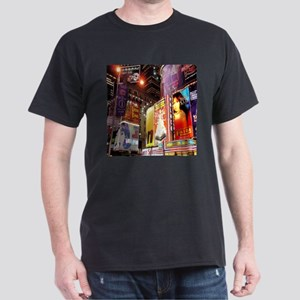 Broadway at Night Dark T-Shirt