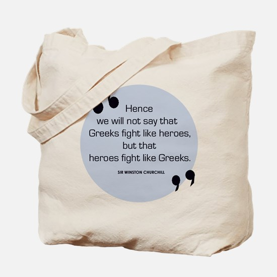 Greek Heroes Tote Bag