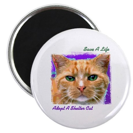 """Save a Life - Adopt a Shelter 2.25"""" Magnet (10 pac"""