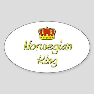 Norwegian King Oval Sticker