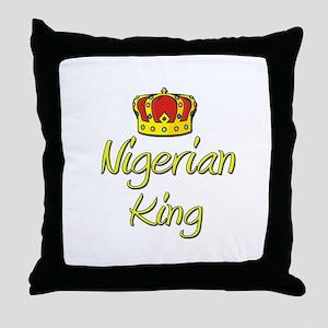 Nigerian King Throw Pillow