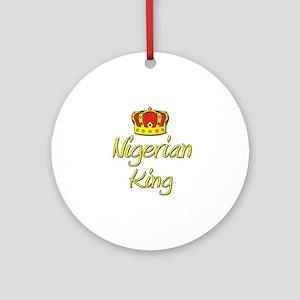 Nigerian King Ornament (Round)