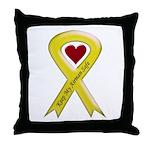 Keep My Airman Safe Ribbon Throw Pillow