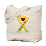 Keep My Airman Safe Ribbon Tote Bag