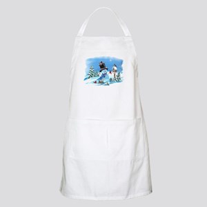 Snowman with Birds BBQ Apron