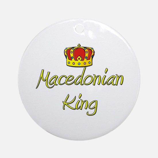 Macedonian King Ornament (Round)