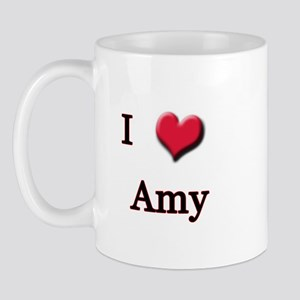 I Love (Heart) Amy Mug