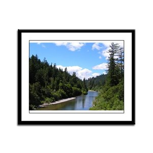 Eel River Scenic Framed Panel Print