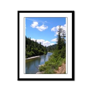Wild Eel River Framed Panel Print