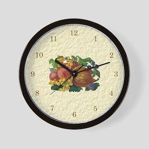 Fancy Fruits Wall Clock