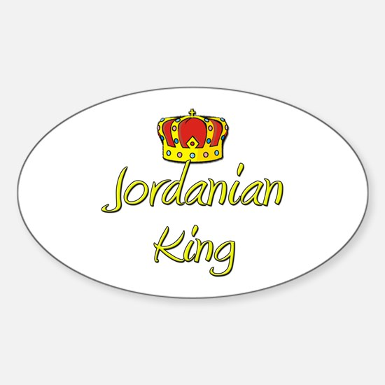 Jordanian King Oval Decal