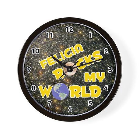 Felicia Rocks My World (Gold) Wall Clock