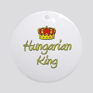 Hungarian King Ornament (Round)