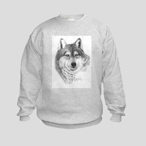 Gray Wolf Kids Sweatshirt
