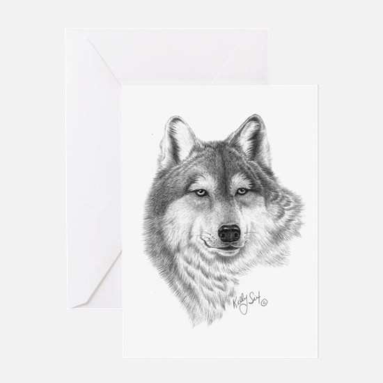 Gray Wolf Greeting Card