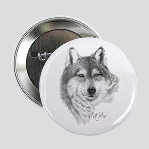 """Gray Wolf 2.25"""" Button"""