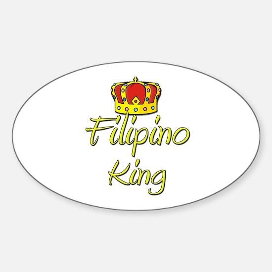 Filipino King Oval Decal