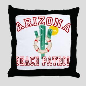 Arizona Beach Patrol Throw Pillow