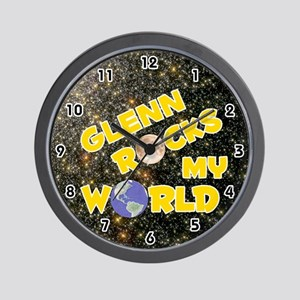 Glenn Rocks My World (Gold) Wall Clock