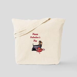 Happy Valentine's Day Yorkie Tote Bag